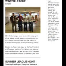 Saratoga Archery Club Email Newsletter